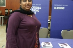 Tasleem Kamal, a primary School Direct trainee from last year, attended a recruitment event at  Leeds Beckett University.