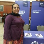 Tasleem Kamal, a primary School Direct trainee from last year, attended a recruitment event at Leeds Beckett University